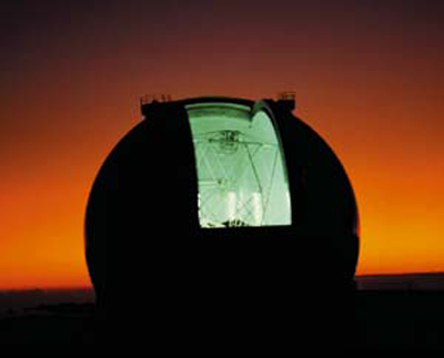 The Keck Telescope at Sunset